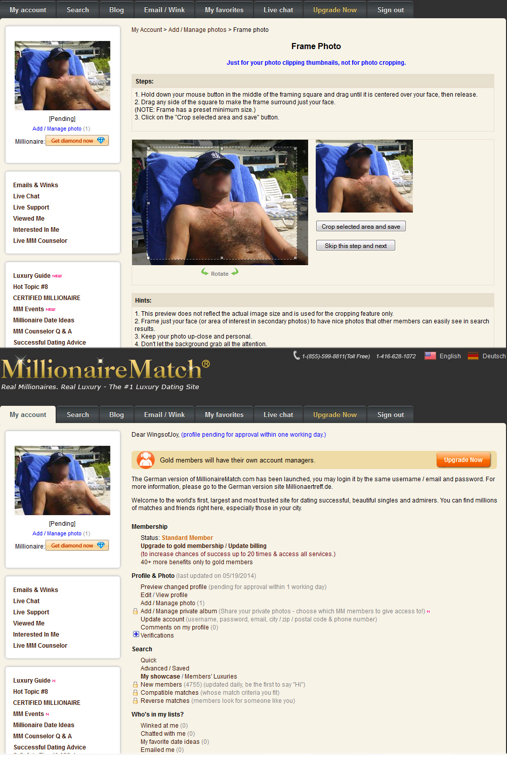 Face matching dating website